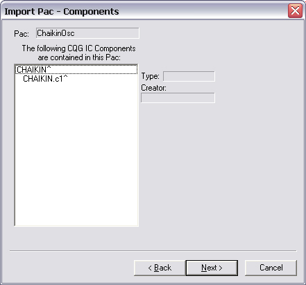 Component details are presented. Click Next.